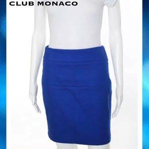 CLUB MONACO Chic Lapis Blue Bandage Pencil Skirt